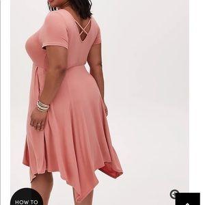 Nwt Torrid Size 00 Soft Handkerchief Skater Dress